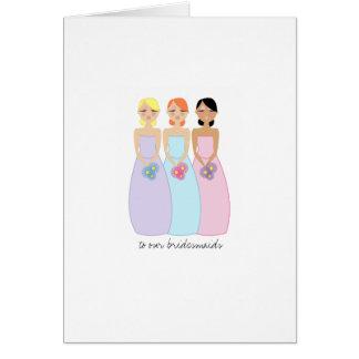 mod bridesmaids wedding THANK YOU card 1