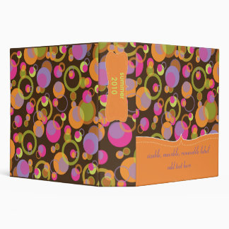 Mod bubbles binders/DIY background color 3 Ring Binder