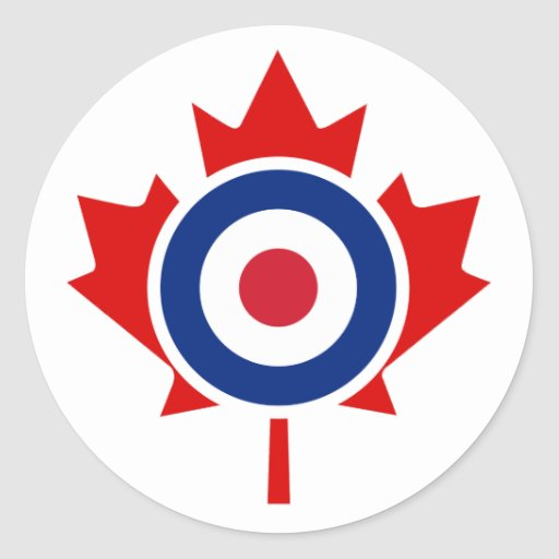 Mod Canada Curling Hockey Target Round Stickers