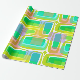 Mod Century Pastel Wrapping Paper