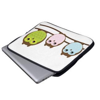 Mod Chic Classy Destiny Owl Laptop Sleeve