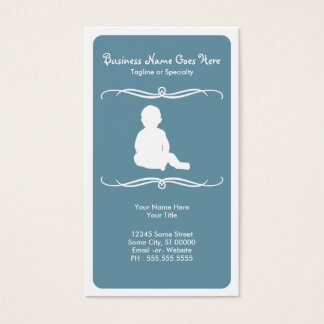 mod childcare business card
