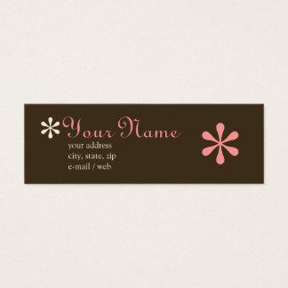 Mod Chocolate & Pink Calling Card
