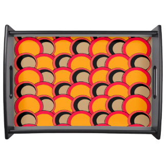 Mod Circles Orange Serving Tray