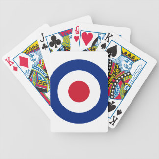 Mod - Classic Roundel - Bullseye Archery Target Bicycle Playing Cards