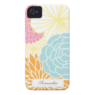 Mod coloré floral coque iPhone 4 Case-Mate