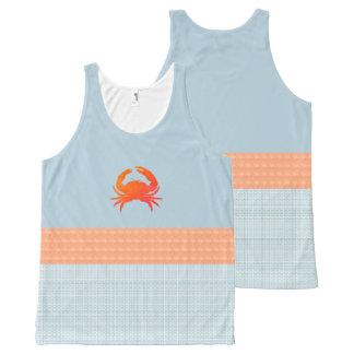 MoD-Crab-Peach-Blue-Plaid(c)Tank-Top