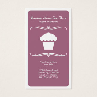 mod cupcake business card
