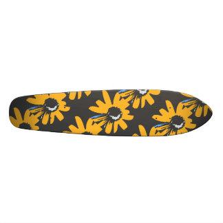 Mod daisy ochre, black and blue skateboards