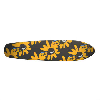 Mod daisy ochre, black and blue skateboards
