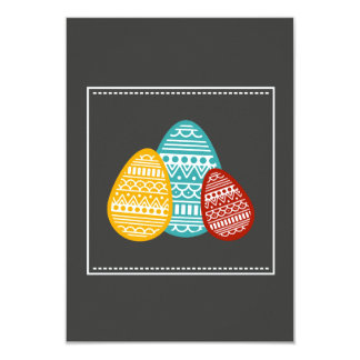 Mod Deco Eggs Easter Party Invitations