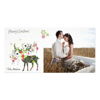 Mod Deer Photo Card Customizable