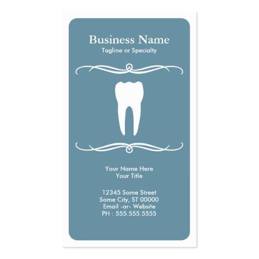 mod dentaire modèles de cartes de visite