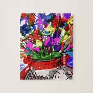 Mod Digital Flower Bouquet 2017 Jigsaw Puzzle