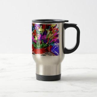 Mod Digital Flower Bouquet 2017 Travel Mug