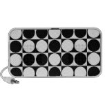 Mod Dots Black and White Portable Speaker