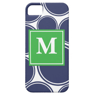 Mod Dots in Navy iPhone 5 Cover