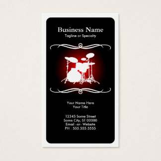 mod drums business card