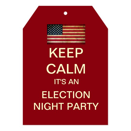 Mod Election Night Party Invitation (Red)