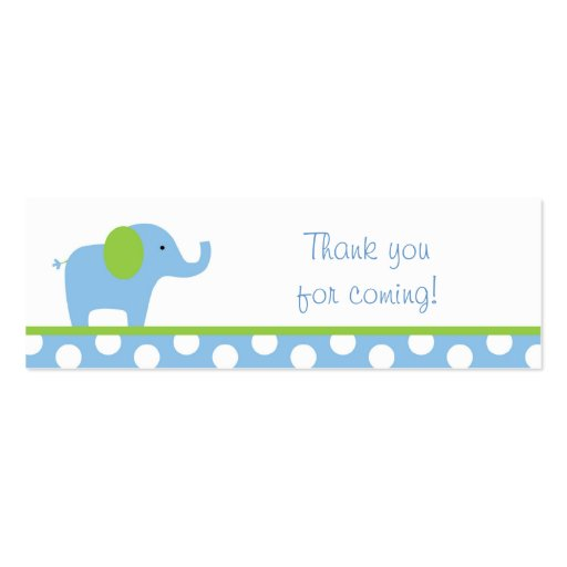 Mod Elephant Party Favor Gift Tags Business Card Template