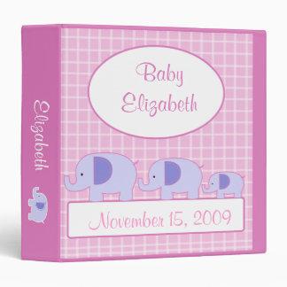 MOD ELEPHANT PINK GIRL New Baby Photo Album Binders