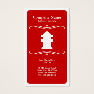 mod fire hydrant business card
