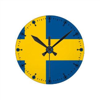 Mod Flag of Sweden Wall Clock
