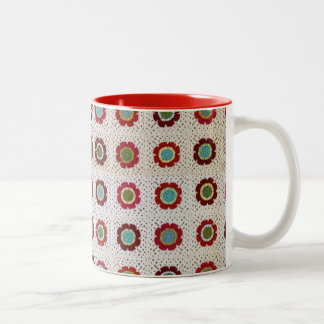 Mod Floral Blanket 11 oz Two-Tone Mug