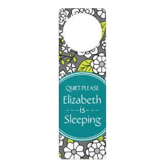 Mod Floral Pattern for Baby and Kids Door Hanger
