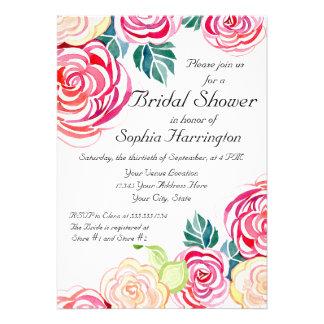 Mod Floral Roses Modern Art Flower Weddings Invite