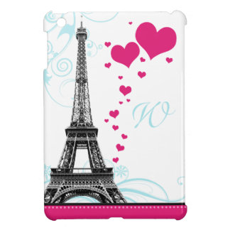 Mod Flourish Eiffel Tower Monogram iPad Mini Case