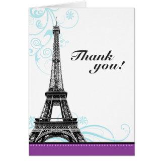 Mod Flourish Eiffel Tower Parisian Thank You Cards