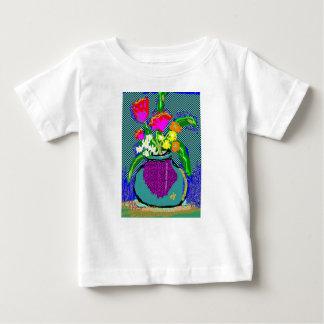 Mod Flower Bouquet When Im Feeling blue Baby T-Shirt