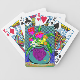 Mod Flower Bouquet When Im Feeling blue Bicycle Playing Cards
