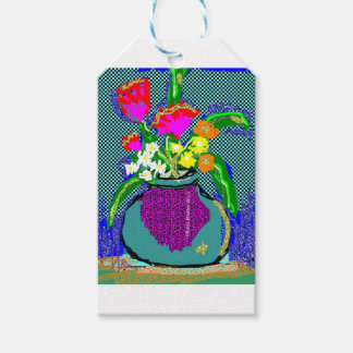 Mod Flower Bouquet When Im Feeling blue Gift Tags