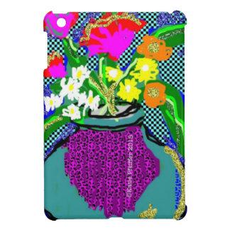 Mod Flower Bouquet When Im Feeling blue iPad Mini Cover