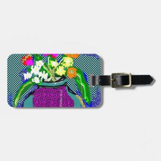 Mod Flower Bouquet When Im Feeling blue Luggage Tag