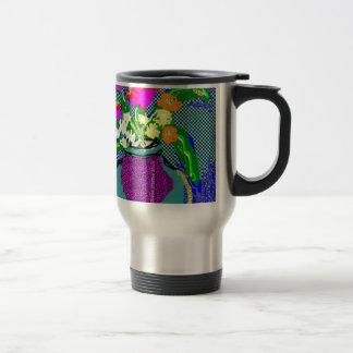 Mod Flower Bouquet When Im Feeling blue Travel Mug