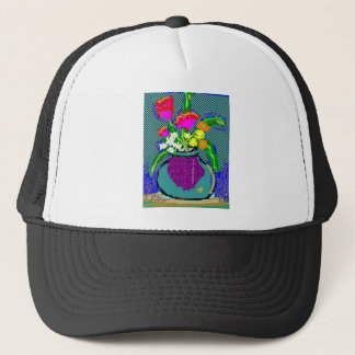 Mod Flower Bouquet When Im Feeling blue Trucker Hat