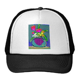 Mod Flower Bouquet When Im Feeling blue Trucker Hat