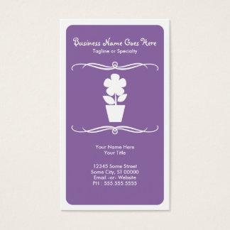 mod flower business card