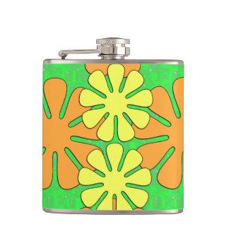 Mod Flower Design Hip Flask