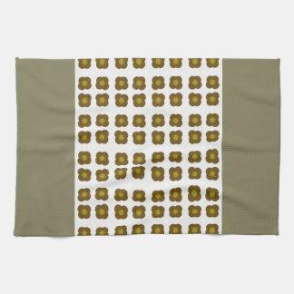 Mod flower design kitchen towel