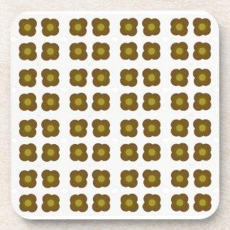 Mod flower design pattern coasters