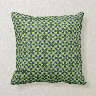 Mod Flower Lime Throw Pillow