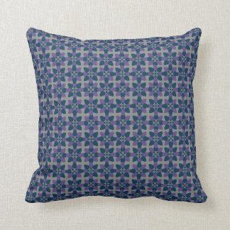 Mod Flower Violet Throw Pillow