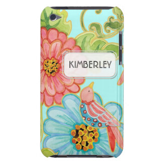 Mod Flowers Cute Fun Bird Floral Swirl Pattern Art Barely There iPod Covers