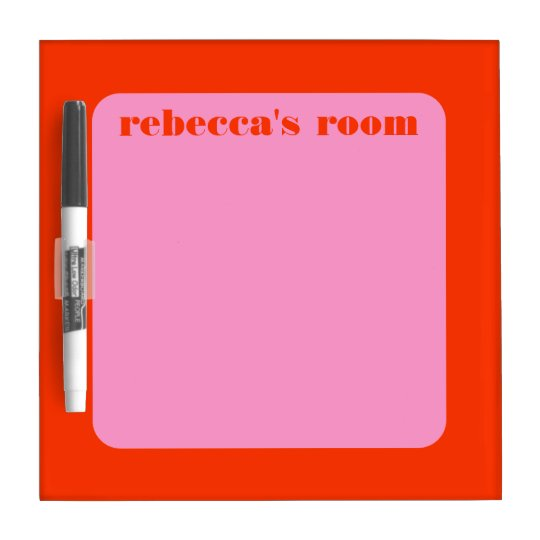 Mod Frame Personalized Name Message Board Dry Erase White Board
