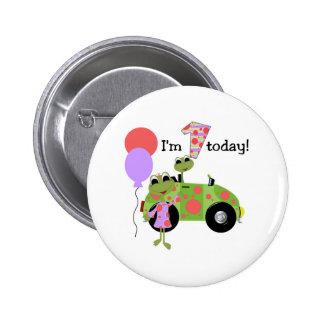 Mod Frogs 1st Birthday 2 Inch Round Button
