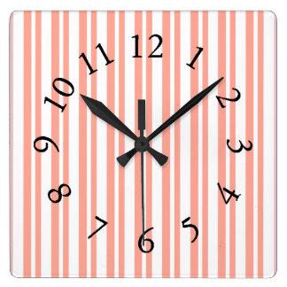 Mod-Fun-Stripes-Peach_Bed-Bath-Kitchen-Decor Wallclock